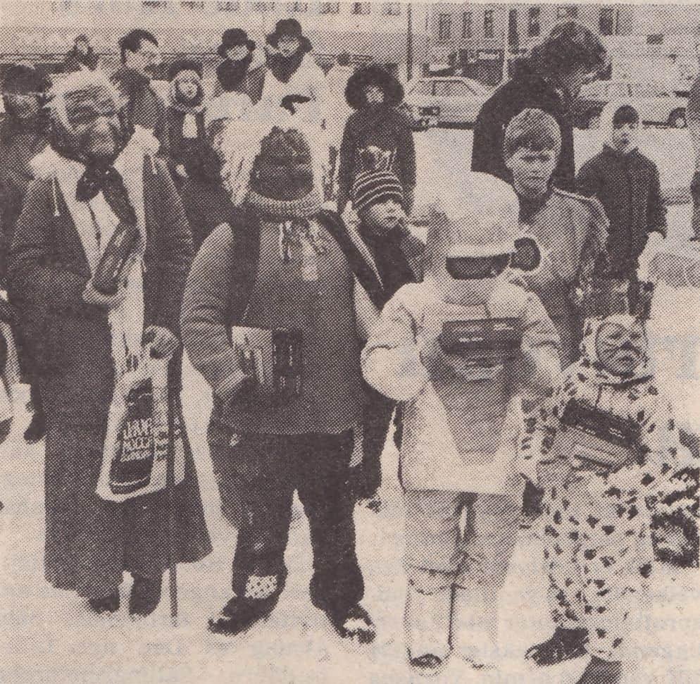 Fastelavn på torvet i Maribo 1985