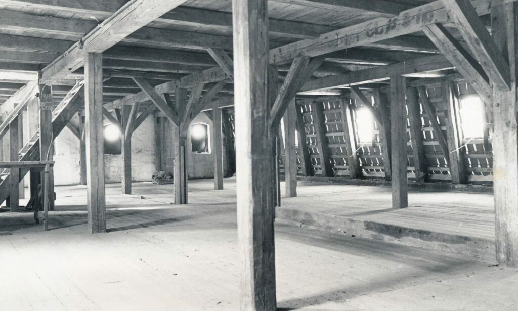 Tømmerkonstruktionen i Det gule Pakhus