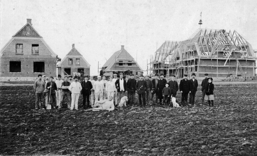 Rejsegilde på Bandholm skole i 1910