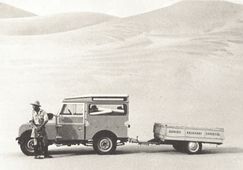 Danish Kalahari Expedition - Jens Bjerre på vej til San-folket i Kalahariørkenen i Sydvestafrika